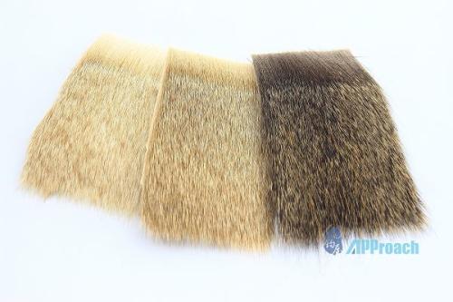 細型鹿毛 (漂白, 黃, 深棕)