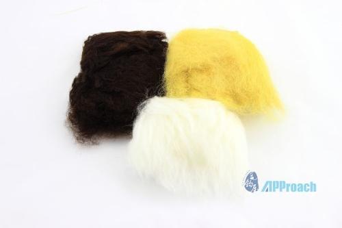 綿羊毛 (深棕, 黃, 白)